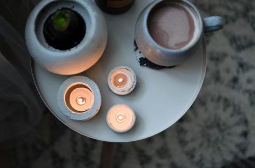 Svícny z betonu